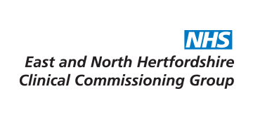 NHS East and North Hertfordshire CCG logo