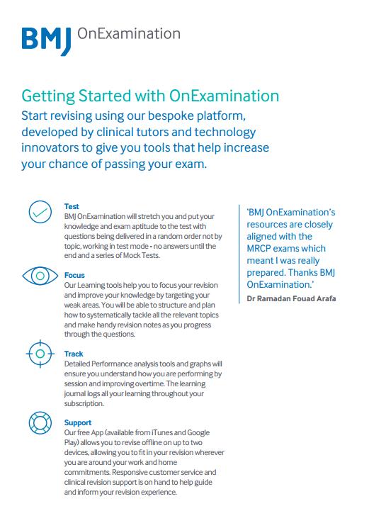 BMJ OnExamination Getting Started Guide