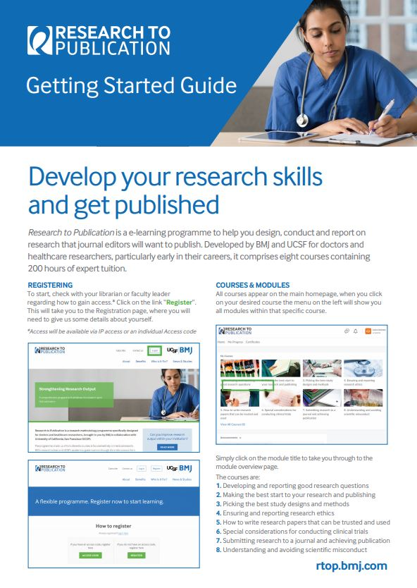 Research to Publication User Guide