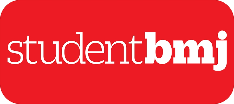 Student BMJ logo, white text on red background