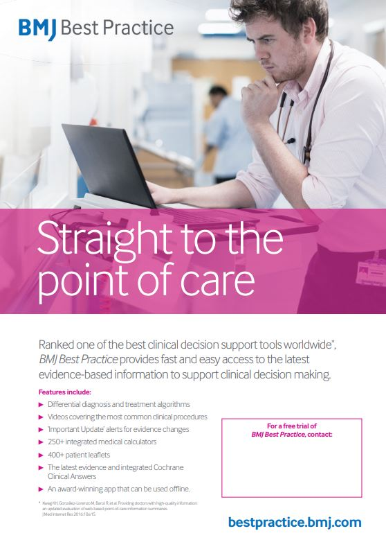 BMJ Best Practice Poster
