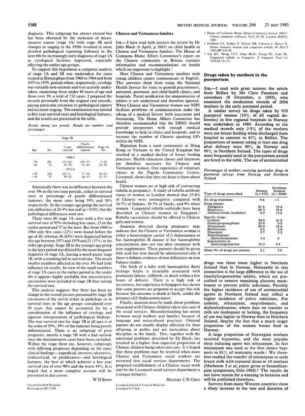 Drugs taken by mothers in the puerperium. | The BMJ