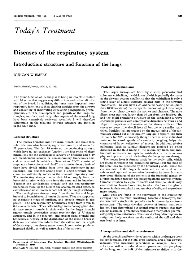Diseases Of The Respiratory System Introduction Structure And
