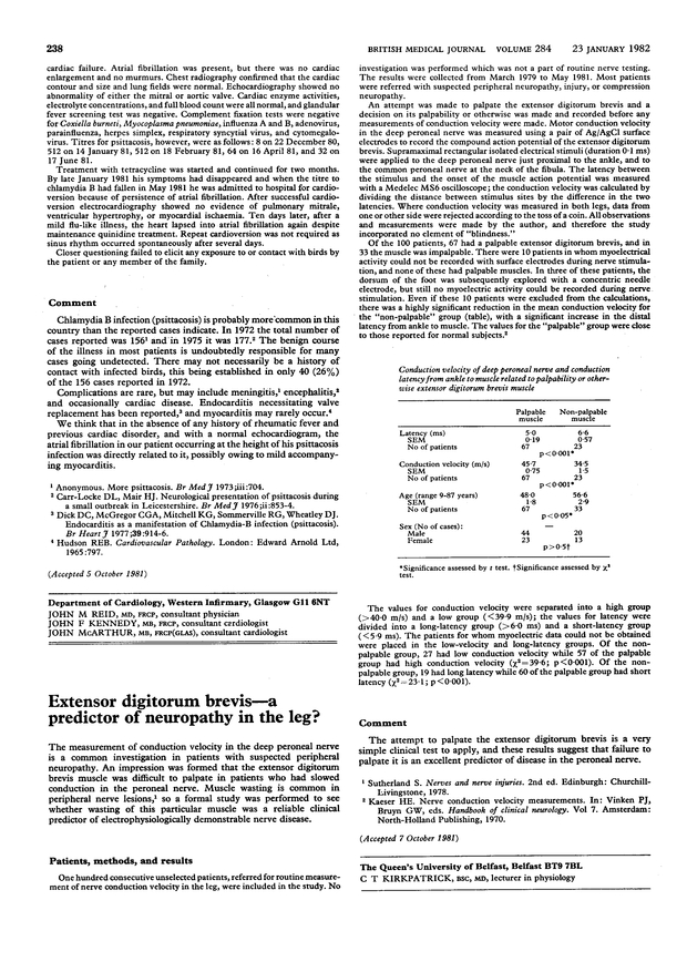 Extensor Digitorum Brevis A Predictor Of Neuropathy In The Leg