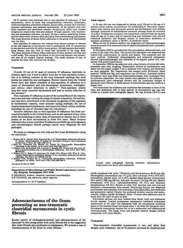 Adenocarcinoma of the ileum presenting as non-traumatic