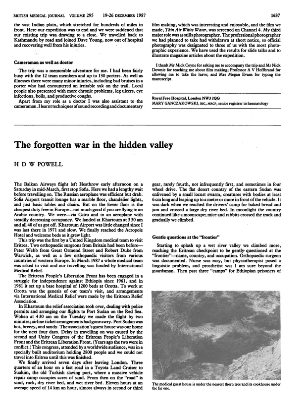 The forgotten war in the hidden valley  | The BMJ