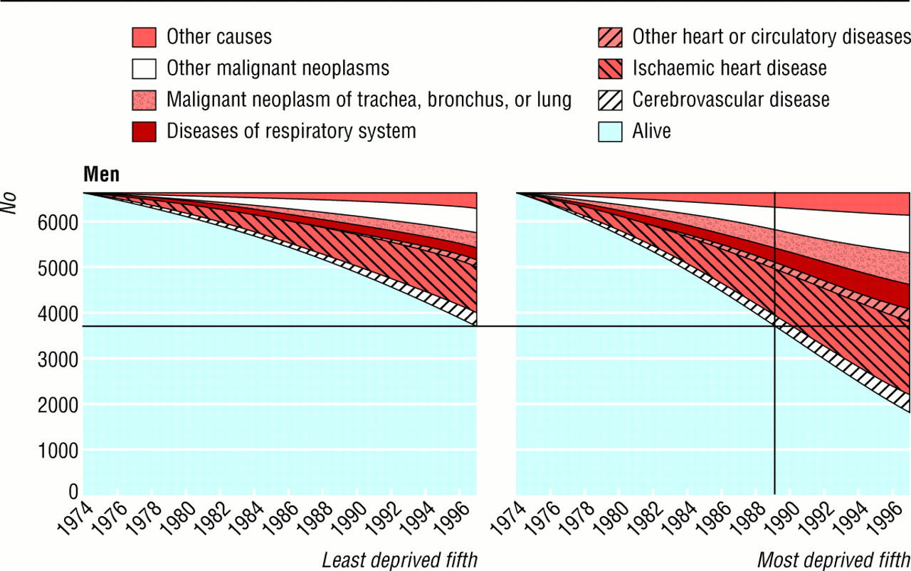 deprivation disease and death in scotland graphical display of