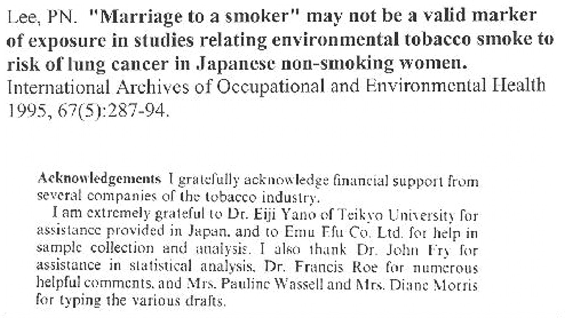 New Study Proves Tobacco Industry Deception Continues
