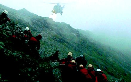 A Rescue On Helvellyn In The Lake District