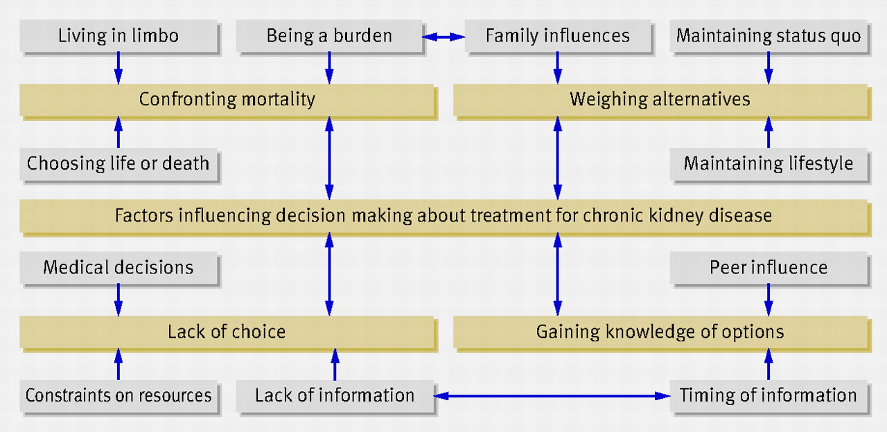 The views of patients and carers in treatment decision