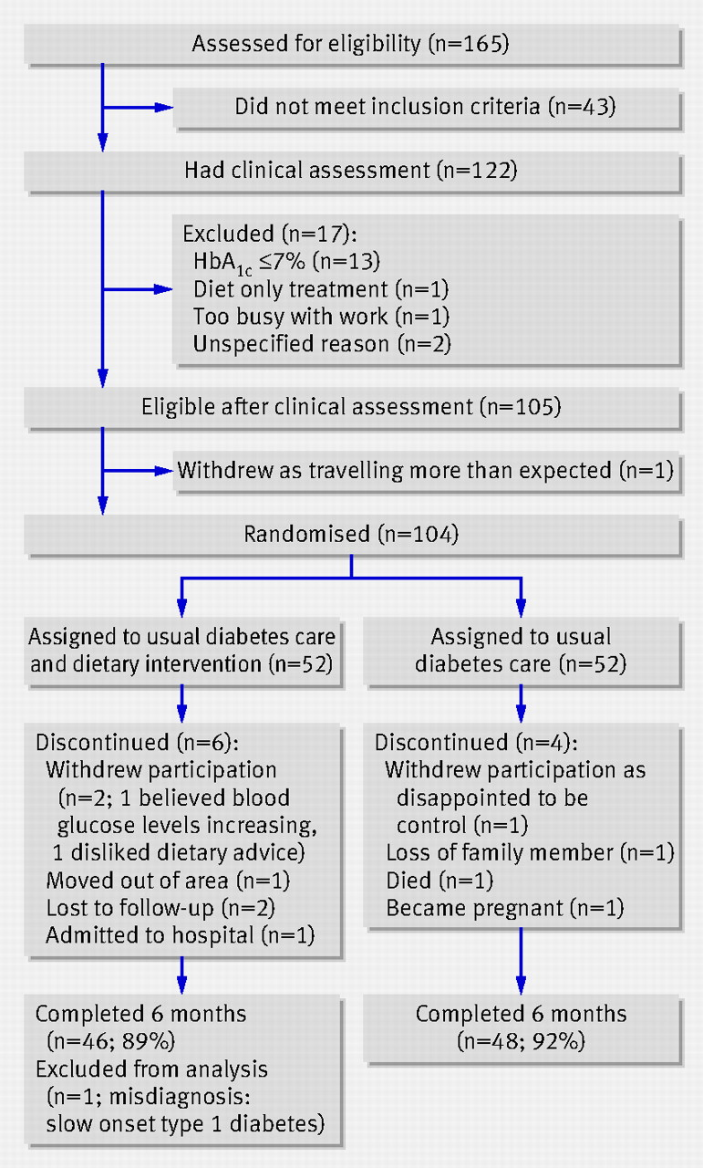 Nutritional intervention in patients with type 2 diabetes who are flow chart of participants nvjuhfo Images
