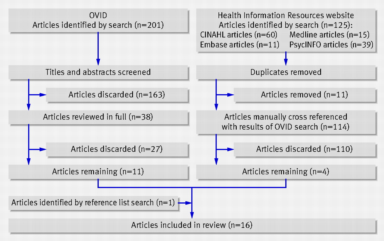 impact of workplace based assessment on doctors education and results of the search strategy for articles