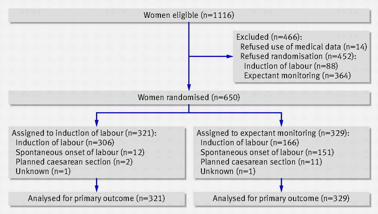 induction versus expectant monitoring for intrauterine growth restriction at term  randomised