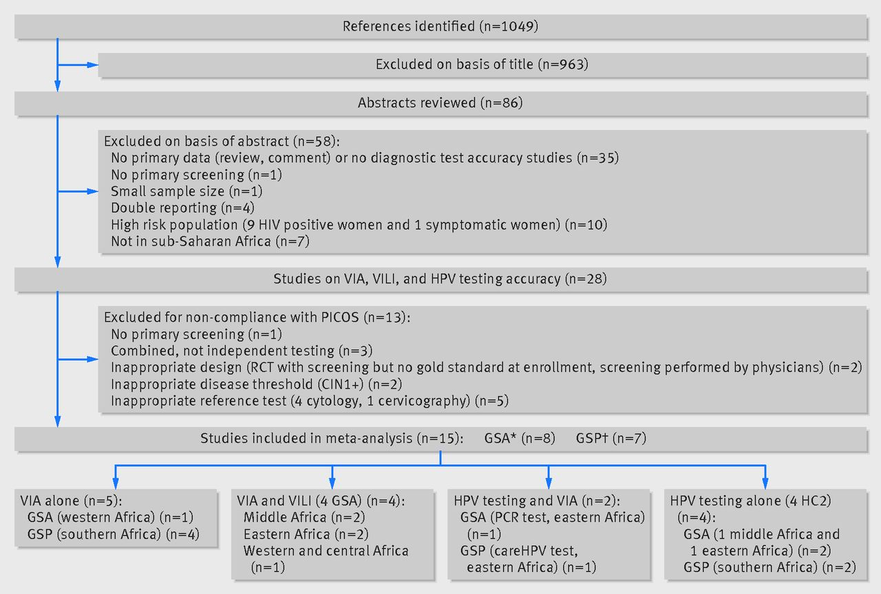 Performance of alternative strategies for primary cervical