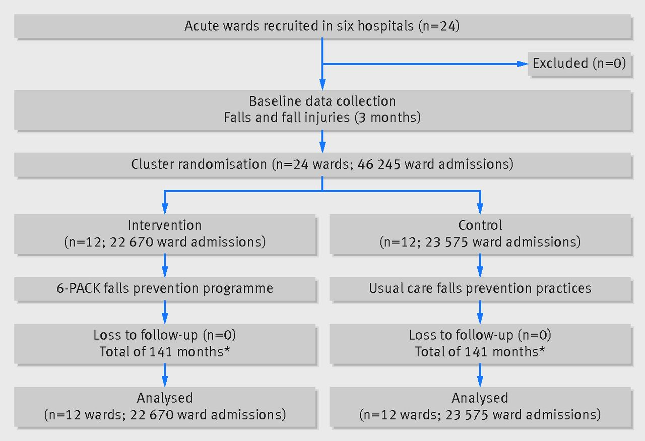 6 Pack Programme To Decrease Fall Injuries In Acute