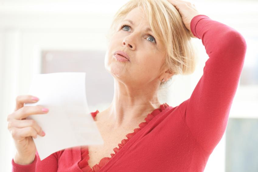 Menopausal symptoms may be confused with side effects of
