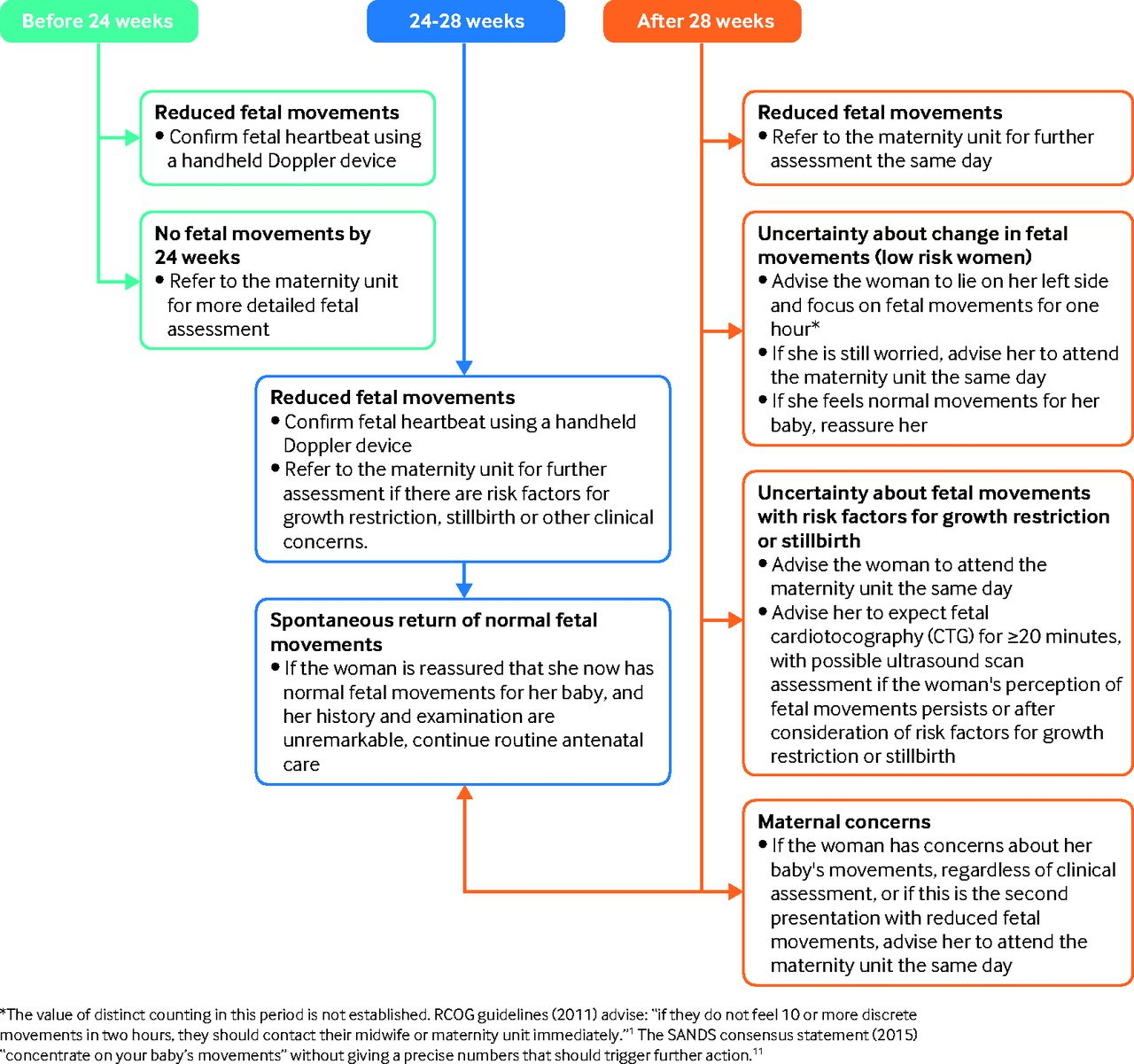 Reduced Fetal Movements The Bmj