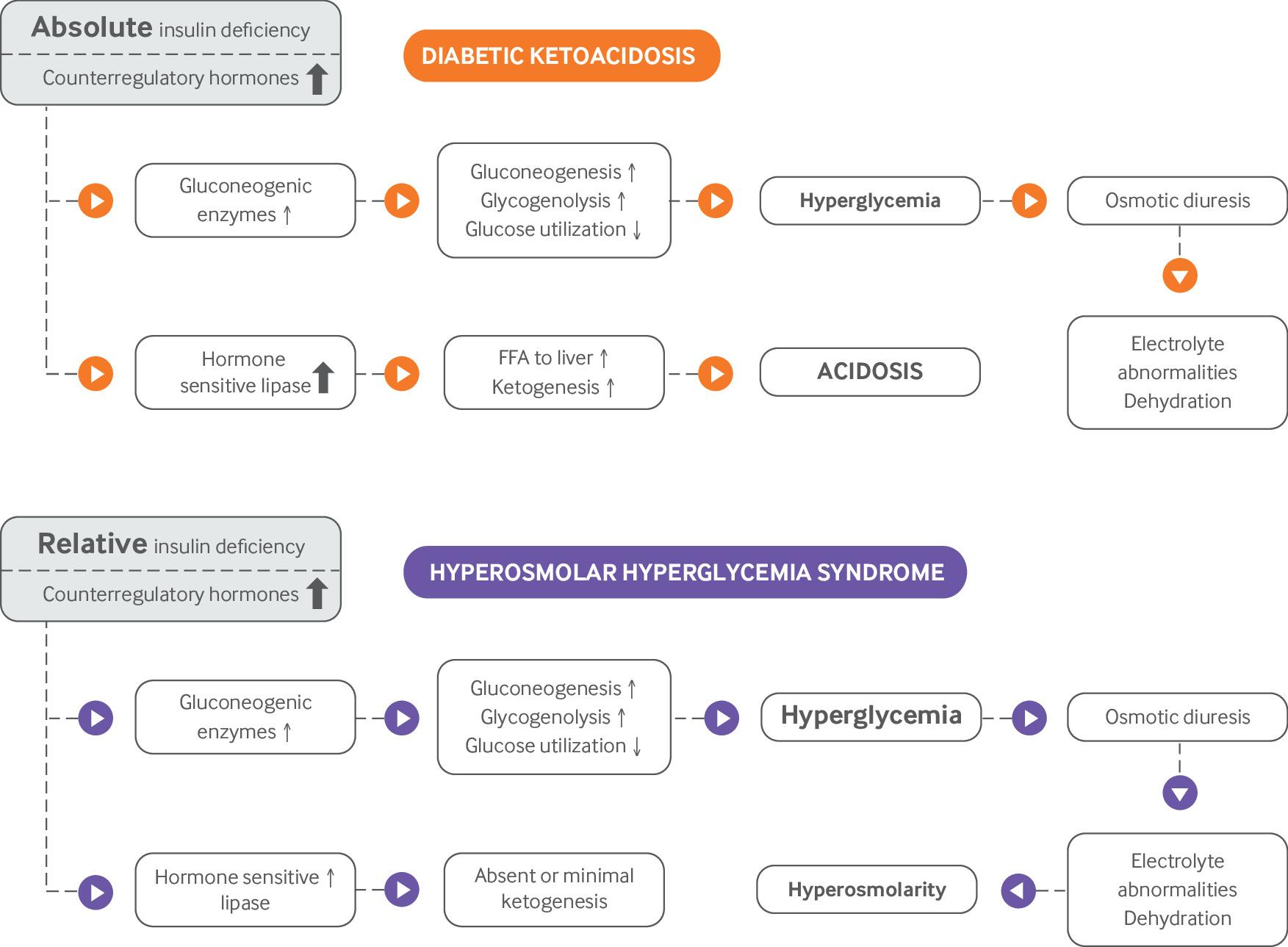Diabetic ketoacidosis and hyperosmolar hyperglycemic