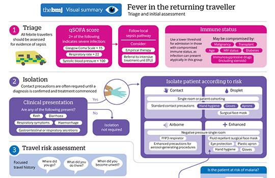 Fever in the returning traveller | The BMJ