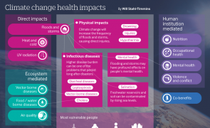 Infographic: Climate change health impacts