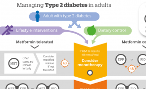 Infographic: Managing type 2 diabetes in adults