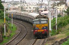 An Indian Railways train