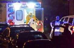 Amber Vinson being taken to hospital