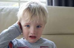 child with earache