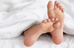 Itching begins on the soles of the feet and palms of the hands and is often worse at night