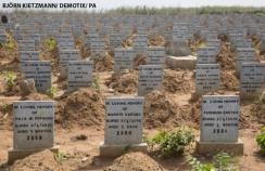 A cemetery south of the Sierra Leonean capital Freetown for those who died from the Ebola epidemic