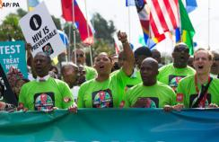 Thousands of people took to the streets of Durban, South Africa to demand that world leaders prioritise the AIDS response