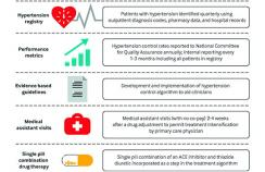 Components of large scale hypertension control program