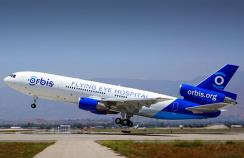 The Orbis plane used for treatment and surgical operations