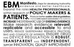 Evidence based medicine manifesto for better healthcare