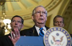 Mitch McConnell, a Republican from Kentucky, announced that the Senate would no longer try to pass the Senate bill