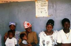 mothers and children at a TB clinic africa
