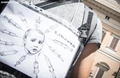 Anti-vaccine protests in Italy