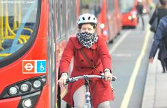 A cyclist in London