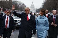Donald Trump at his inaugural parade