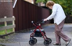 older person walking