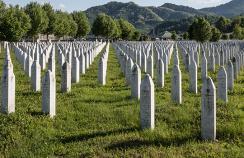 Bosnia genocide cemetery Potocari Srebrenica
