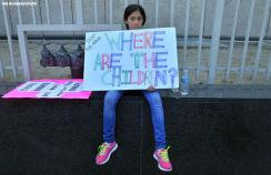 A protest against the detention of children