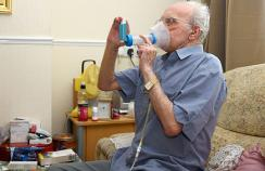 A patient with COPD uses their inhaler