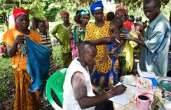 A malaria clinic in Central African Republic