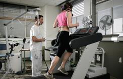woman on running machine