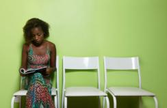 Woman waiting to see a doctor