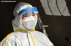 Staff in protective equipment