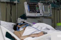 A patient in critical care with covid-19