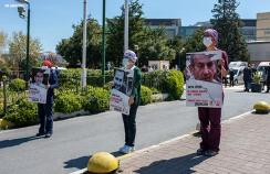protest against violence against healthcare workers