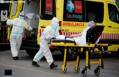 A patient is admitted to hospital in Madrid, Spain